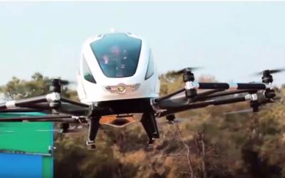 Vidéo sur le test du drone taxi EHang 184