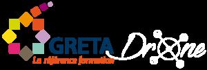 Logo Greta Drone blanc